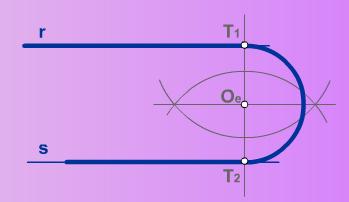 Enlace de dos rectas paralelas