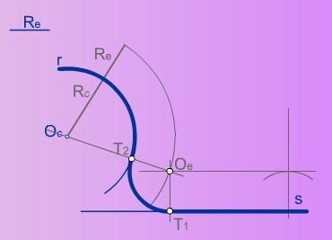 Enlace de una recta y una curva mediante un arco