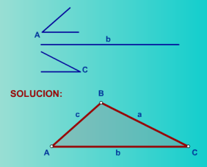 Construye triángulos