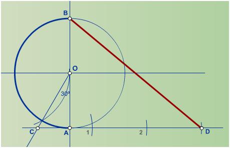 Rectificación de un arco equivalente a media circunferencia