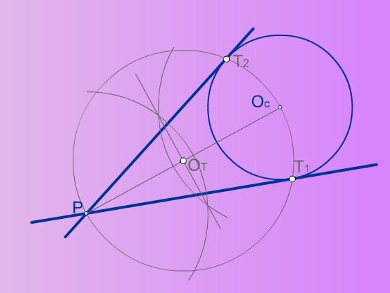 Rectas tangentes, desde un punto P, a una circunferencia