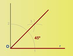 2 2 ángulos Construcción Dibujo Geométrico