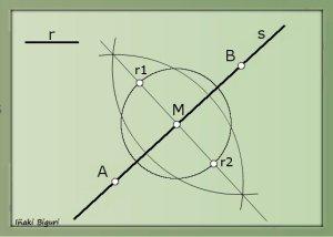Circunferencia tangente a recta 03