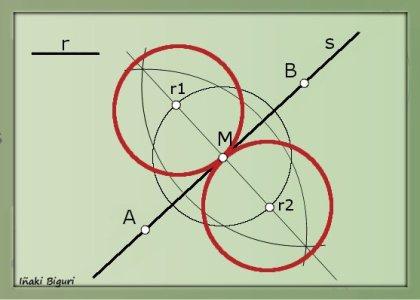 Circunferencia tangente a recta 04