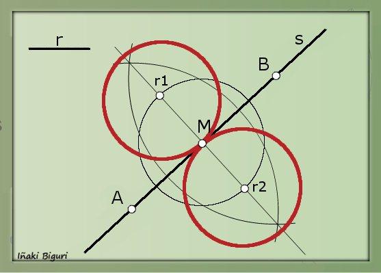 Circunferencia tangente a una recta