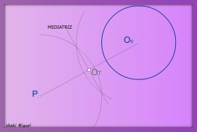 Rectas tangentes a una circunferencia pasando por un punto P 01