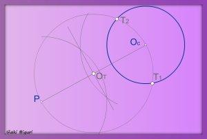 Rectas tangentes a una circunferencia pasando por un punto P 02