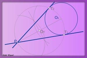 Rectas tangentes a una circunferencia pasando por un punto P 03