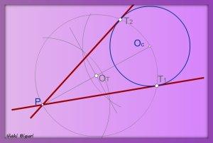 Rectas tangentes a una circunferencia pasando por un punto P 04