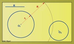 Circunferencia tangente a otras dos circunferencias 01