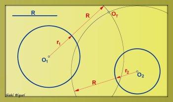 Circunferencia tangente a otras dos circunferencias 02