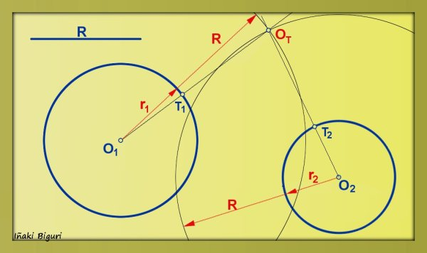 Circunferencia tangente a otras dos circunferencias 03