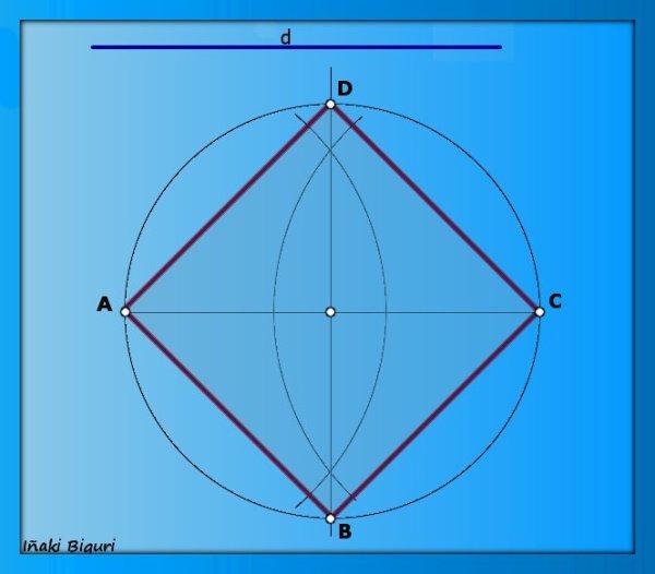 Cuadrado conociendo la diagonal 06