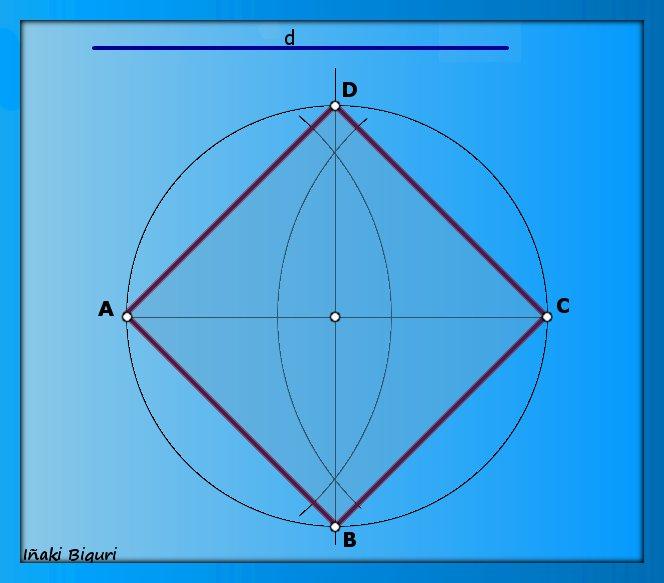 Construir un cuadrado conociendo su diagonal (I)