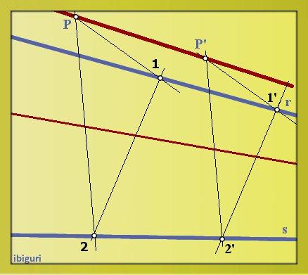 Linea concurrente con otras dos (punto exterior)