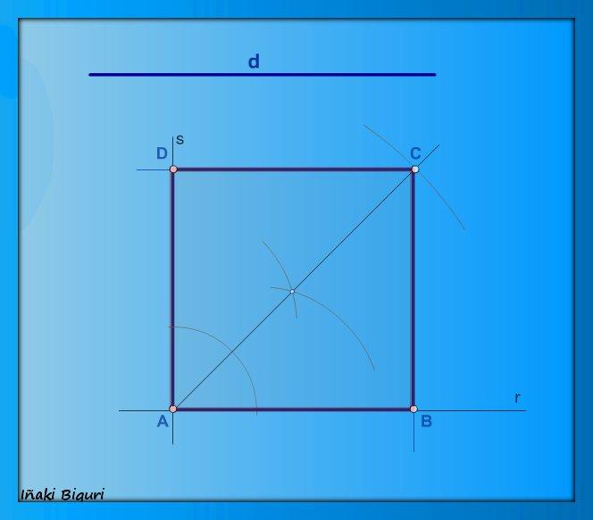 Construir un cuadrado conociendo su diagonal (II)