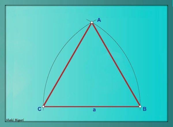 Triángulo equilátero conociendo el lado