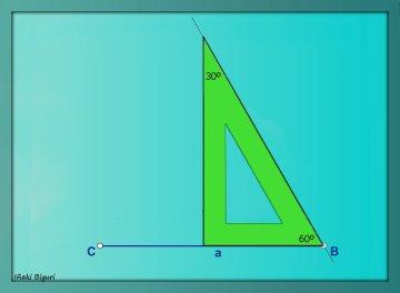 Triángulo equilátero. Con reglas 02