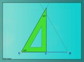 Triángulo equilátero. Con reglas 03