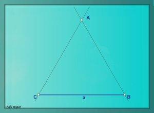 Triángulo equilátero. Con reglas 04