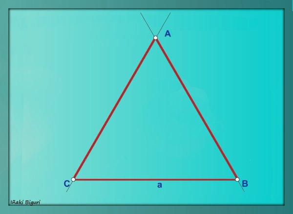 Triángulo equilátero. Con reglas 05