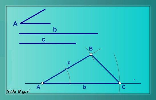 Triángulo conociendo dos lados y el ángulo comprendido