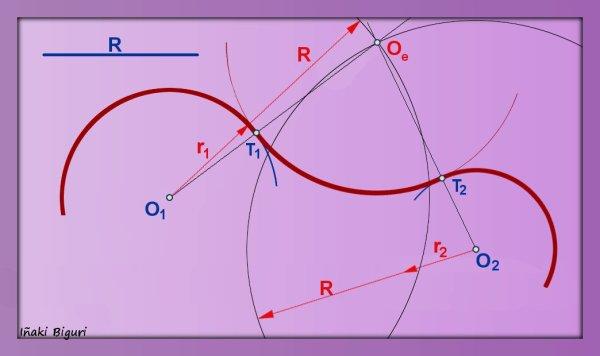 Enlace a dos circunferencias 03