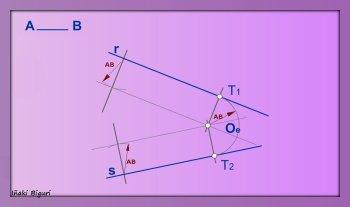 Enlazar dos rectas mediante un arco conocido 07