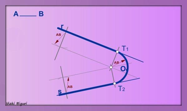 Enlazar dos rectas mediante un arco conocido