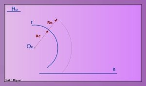 Enlazar una recta y una curva mediante un arco 01