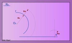 Enlazar una recta y una curva mediante un arco 02