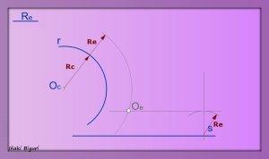 Enlazar una recta y una curva mediante un arco 03
