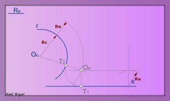 Enlazar una recta y una curva mediante un arco 05