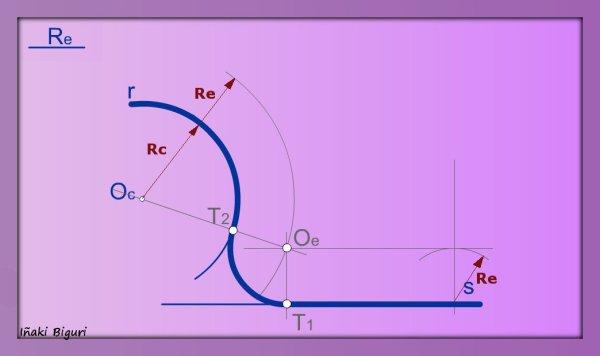 Enlazar una recta y una curva mediante un arco 06