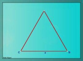 Triángulo equilátero estrellado 01