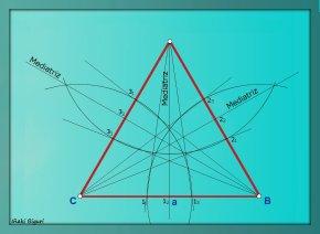 Triángulo equilátero estrellado 04