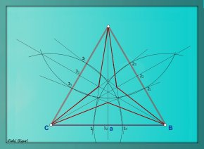 Triángulo equilátero estrellado 05