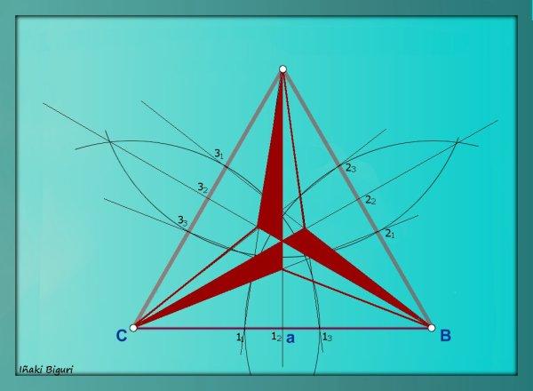 Triángulo equilátero estrellado 06