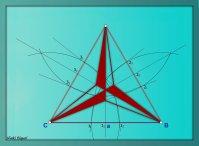 Triángulo equilátero estrellado 06b