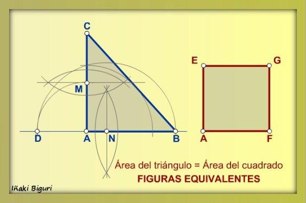 Cuadrado equivalente a triángulo 06