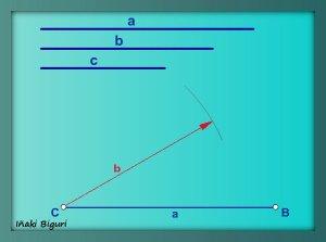 Triángulo a partir de los tres lados 02