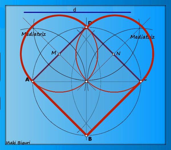 Corazón con base geométrica