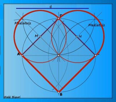 Corazón con base geométrica 03