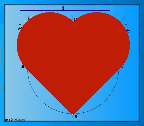 Corazón con base geométrica 04