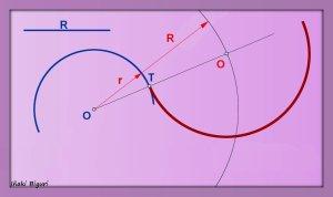 Enlace a una circunferencia, pasando por T 02