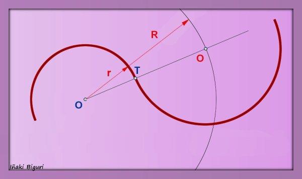 Enlace a una circunferencia, pasando por T 03