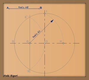 Pentágono inscrito en una circunferencia 04