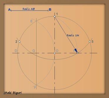 Pentágono inscrito en una circunferencia 05