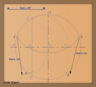 Pentágono inscrito en una circunferencia 06