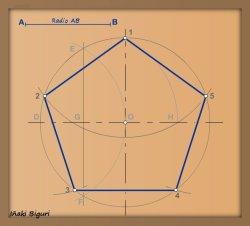 Pentágono inscrito en una circunferencia 07